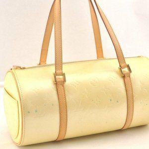 Louis Vuitton Bedford Hand Bag Monogram Vernis Can